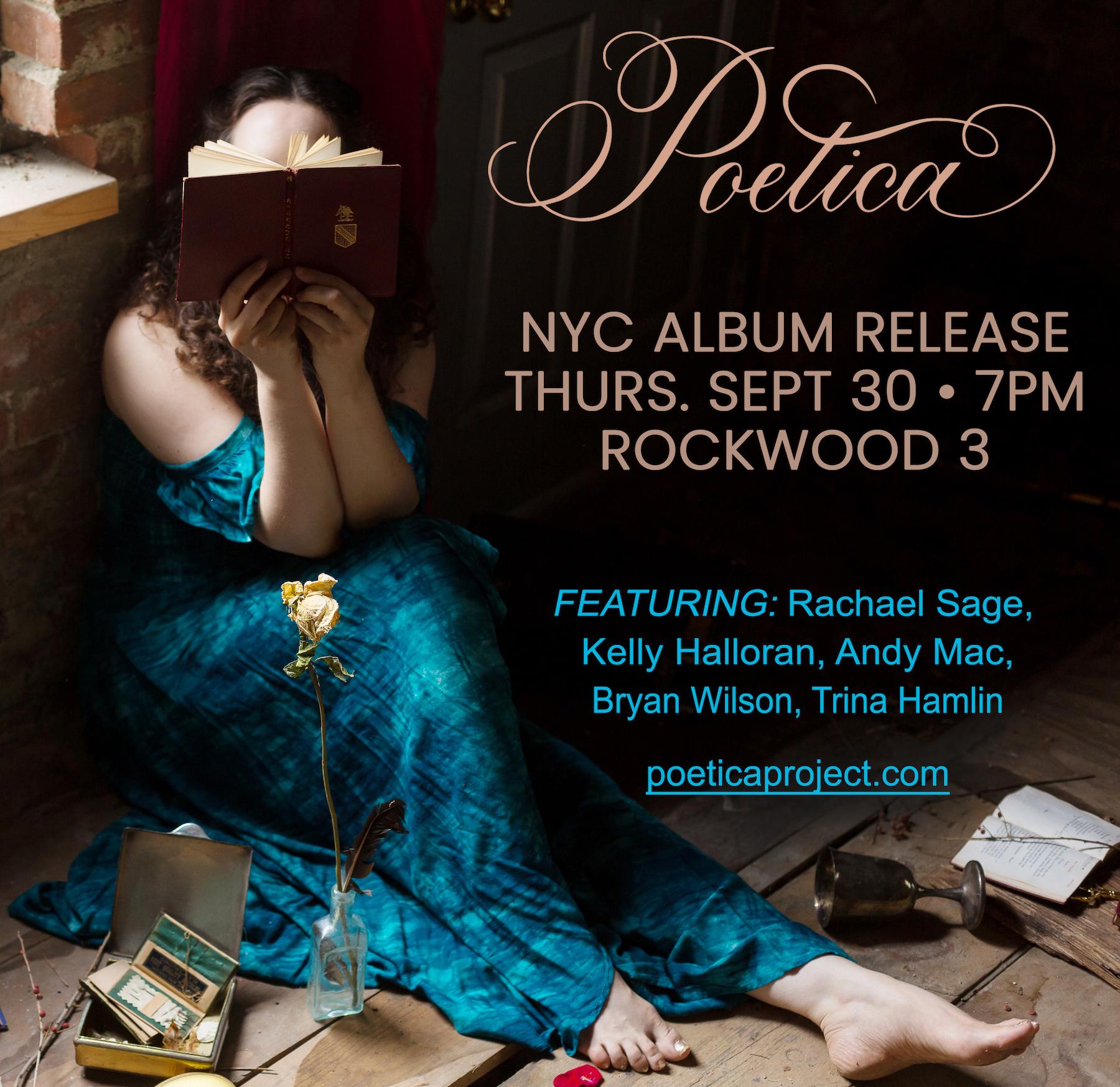 Poetica Debut At Rockwood Stage 3 September 30 at 7pm