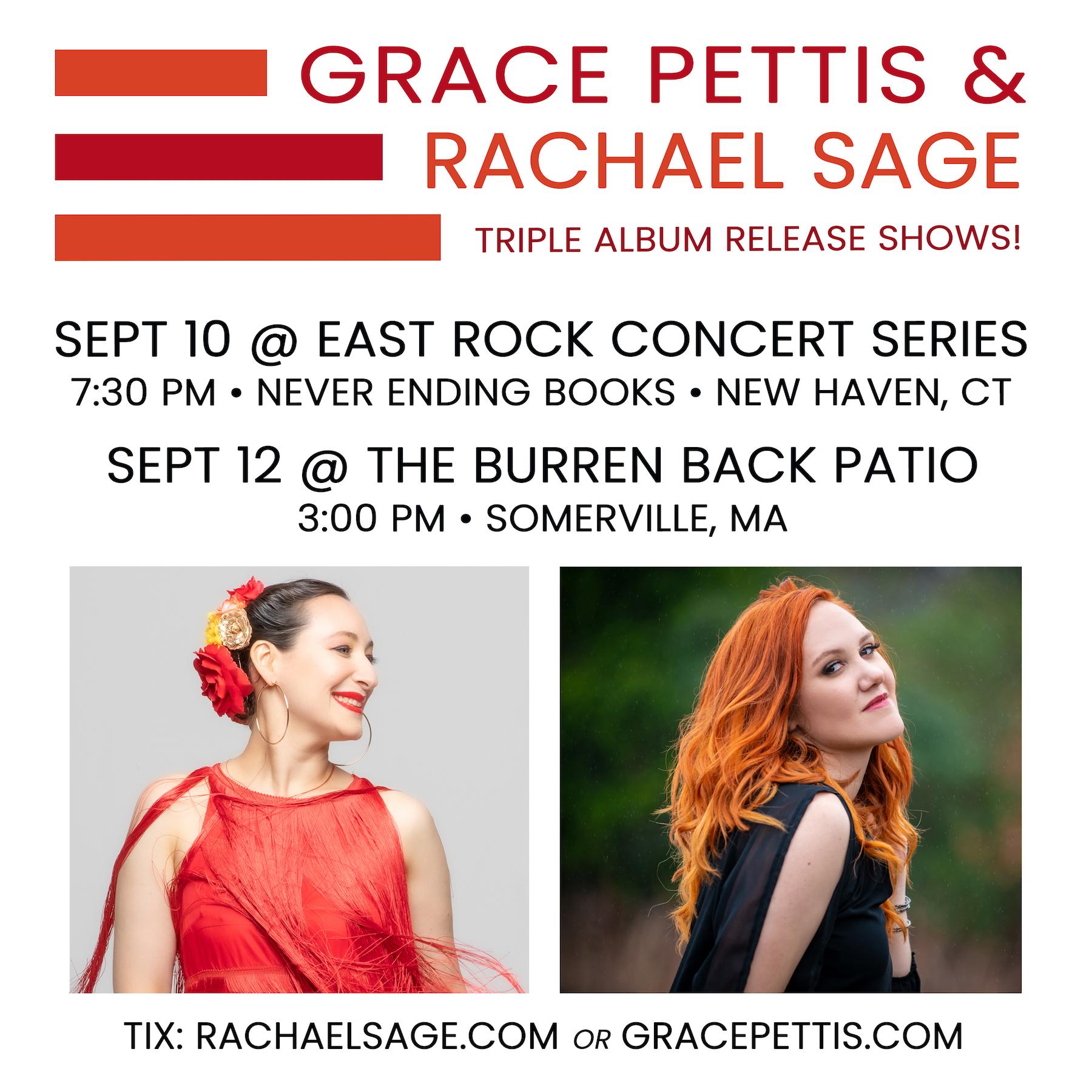 Rachael Sage Shows with Grace Pettis