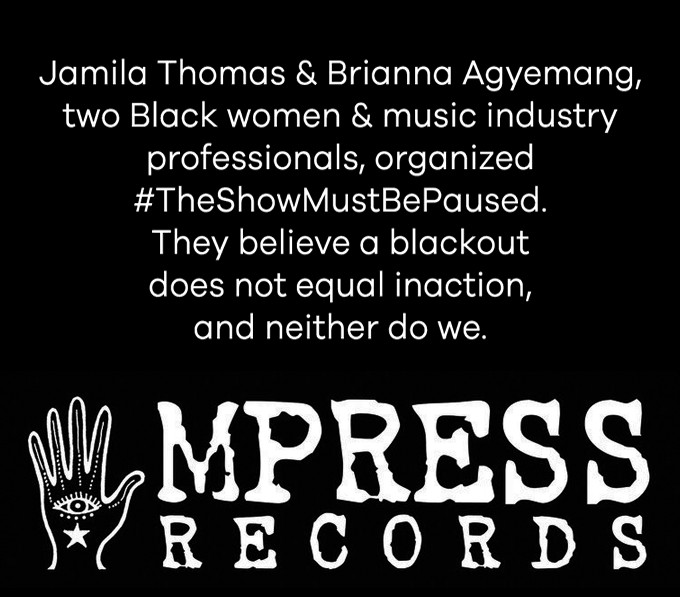 Jamila Thomas & Brianna Agyemang, two Black women & music industry professionals, organized #TheShowMustBePaused. They believe a blackout does not equal inaction, and neither do we.